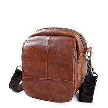 cc60c57e0ec3c Mode Mann Rindsleder Tasche Schulter Umhängetasche Messenger Taschen Für Männer  Klappe Mini Aktentasche Für IPad Kleine
