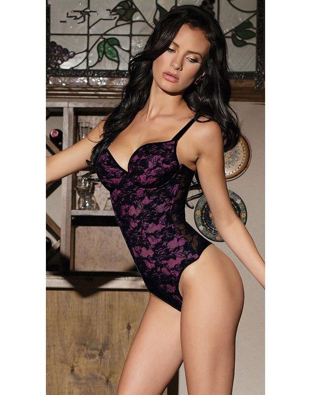 ff5c74e07d Wholesale Sexy Lingerie Stretch Lace Teddy Women Hot Sale Free Shipping  Uniforms Nightwear Underwear G2193