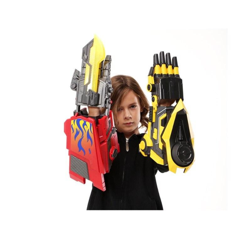 Pistolets à eau Transformation bras Robot Cosplay pistolets à eau électriques jouets pour enfants pistolets à air comprimé