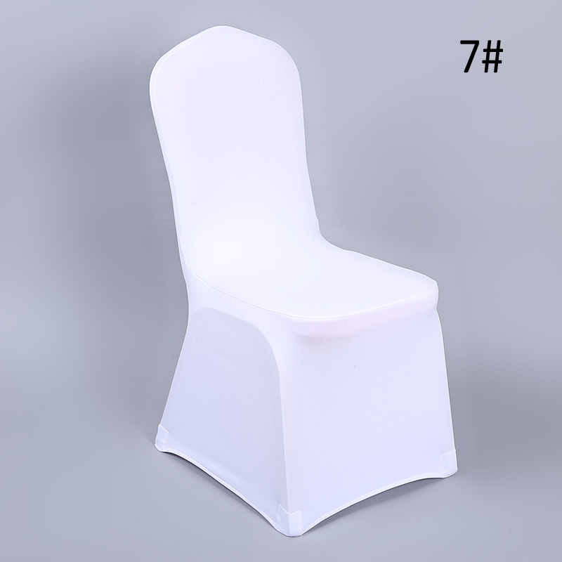 YRYIE 20Pcs White Universal Lycra Spandex Stretch Banquet Chair Slipcovers For Wedding Chair Protector Covers