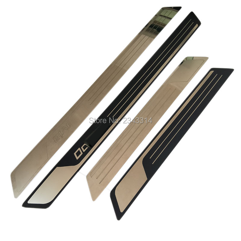 4 Stainless Steel Door Sill Scuff Plate Guards For Skoda Octavia A5 A7 2007-2019