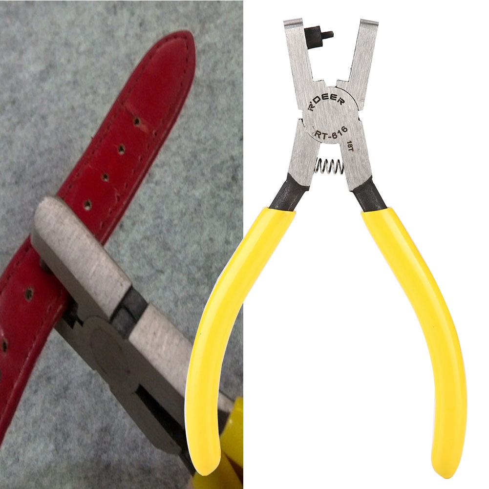 2019 Professional Leather Watch Strap Punching Tool Watchband Hole Punch Pliers Watch Part Repair Tool for Watchmaker
