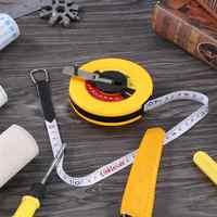 10/15/20/30/50m Measuring Ruler Hand Disc Flexible Ruler Measuring Tool Fiber Engineering Measuring Tape Hand Tools for Engineer