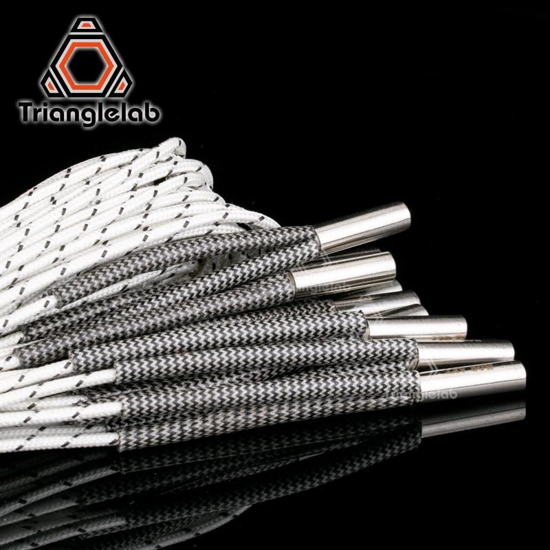 Trianglelab  3D Printer  6*20MM 12V / 24V 50W Heater Cartridge With 100CM Cable For  3D Printer For V6 HOTEND Volcano MK8 MK9
