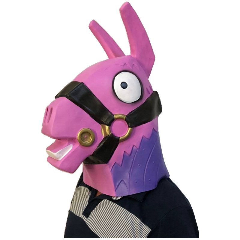 Full Sets Fortress Night Game Battle Royale Troll Stash Llama Skeleton Cavalry Pink Bear Mask Fortnight Halloween Cosplay