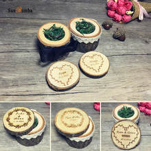 Wedding Decoration Personalized Custom Ring Box Holder Rustic Wood Decor Party Engagement Wooden Pillow Boxes
