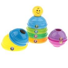 Набор разноцветных стаканчиков с цифрами, набор игрушек, Детские Ранние развивающие игрушки, подарок