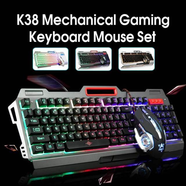 1600 dpi красочная подсветка Игровая USB клавиатура механическое чувство 104 ключей водостойкая ABS Материал клавиатура для ПК ноутбук