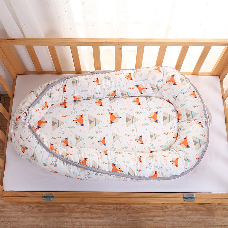0 12 Month Baby Nest Bed Crib Portable Removable And ...