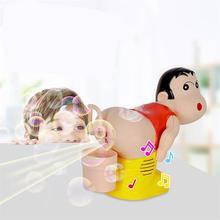Детский Электрический мыльный пузырьковый вентилятор, пукающий пузырьковый светильник, музыкальная забавная игрушка, полностью автоматическая игрушка для выдувания воды, детские игрушки