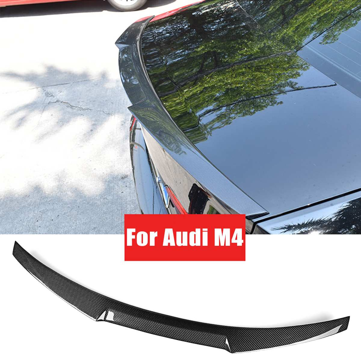 Carbon Fiber Material Rear Boot Trunk Spoiler Boot Lid For <font><b>Audi</b></font> <font><b>A5</b></font> F5 <font><b>Sportback</b></font> 4 Door M4 <font><b>2017</b></font> 2018 image