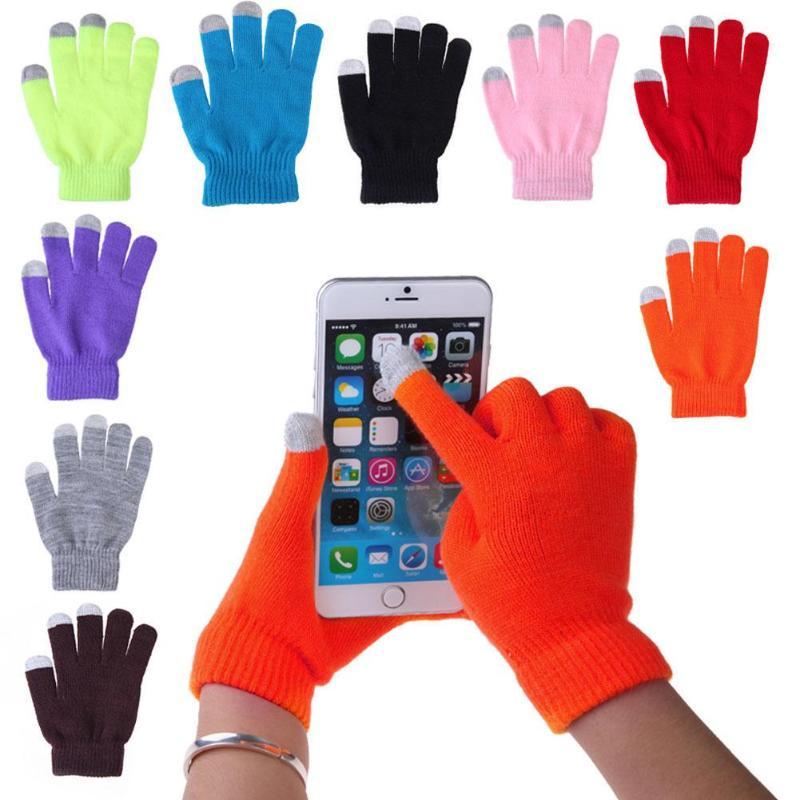 Women Men Touch Screen Soft Cotton Winter Gloves Warmer Smartphones