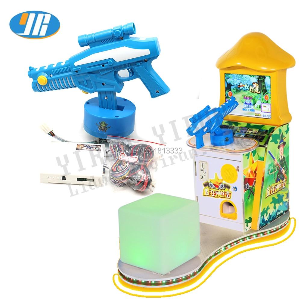 Children s game machine Simulated gun game machine Arcade Game Board With Launch Gun