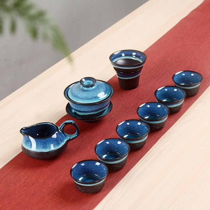 Chinese Kung Fu Tea Set Portable Teaware Set Ceramic Teapot Teaset Gaiwan Tea Cups Of Tea Ceremony Tea Pot Master Teapot Gift