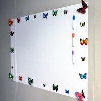 Naklejka do wystroju ścian miękka tablica magnetyczna magnesy kasowalna tablica do pisania magnes Marker biurowy naklejki typu tablica kredowa na ścianę w Białe tablice od Artykuły biurowe i szkolne na