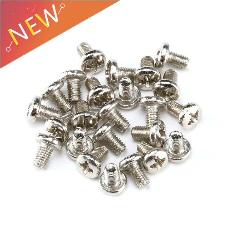 100PCS Self Tapping <font><b>Screws</b></font> <font><b>M3</b></font> Carbon Steel Laptop Computer Philips Cross Round Head Self Tapping <font><b>Screw</b></font> Bolts <font><b>M3</b></font>*5/8/<font><b>10MM</b></font> image