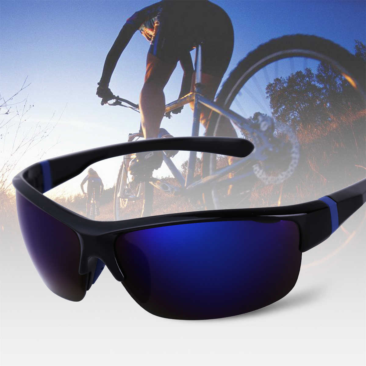 DPOIS Fashion Sunglasses Men Sport Sunglasses UV 400 Protection Golf Sun Glasses Women Driving Cycling Glasses Fishing Eyewear