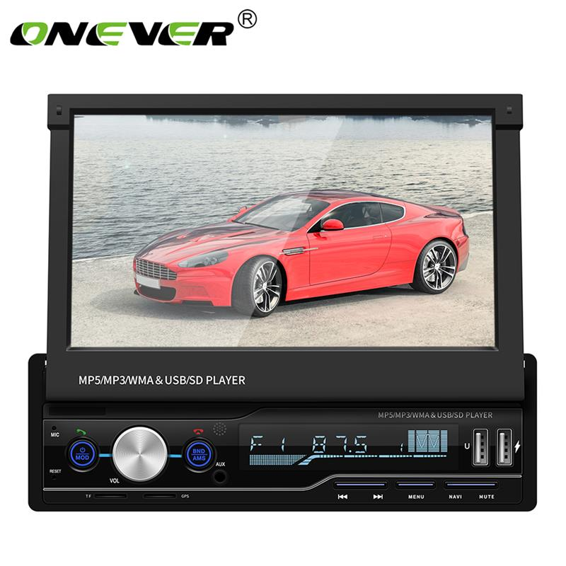 Car Stereo MP5 Player 7 Screen Handsfree Car Bluetooth Radio Music Media Player FM USB GPS