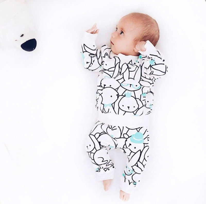 Pudcoco Sweatshirt Outfits Long-Sleeve Newborn Baby-Boys-Girls Pants Animal-Print Cotton