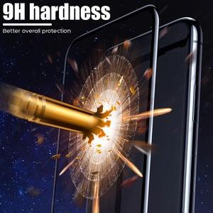 Image 3 - YOYIC 9D 炭素繊維フレーム Iphone 6 7 8 プラススクリーンプロテクター強化 iphone に × XS XR Xs 最大ガラス