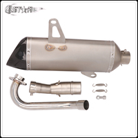 Motorbike Stainless Steel Carbon Fiber Motorcycle Muffler Exhaust Pipe Full System Slip On For YAMAHA XMAX300 XMAX 300