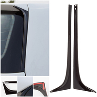Mayitr 2pcs Black ABS Plastic Car Rear Window Side Spoiler Wing For V W G OLF 7 MK7 GTD R 2014 2019
