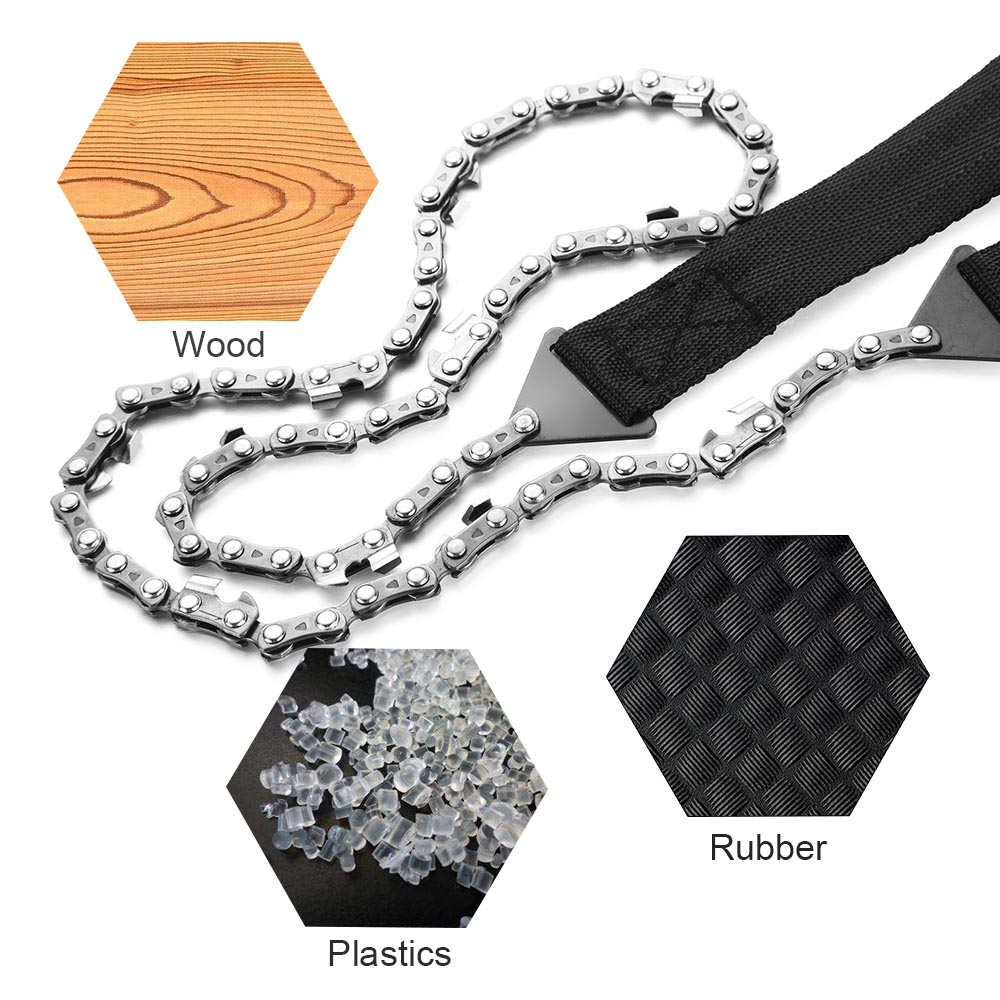 Outdoor Portable Folding Survival Chain Saw Pocket Hand Saw Wire Camping Hiking Hunting Hand Tool Gardening Emergency Gear in Safety Survival from Sports Entertainment