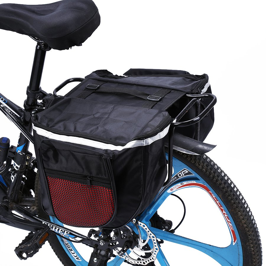 Bicycle Bike Rear Seat Bag Storage Pannier Pouch Reflective Carrier Case Cycling
