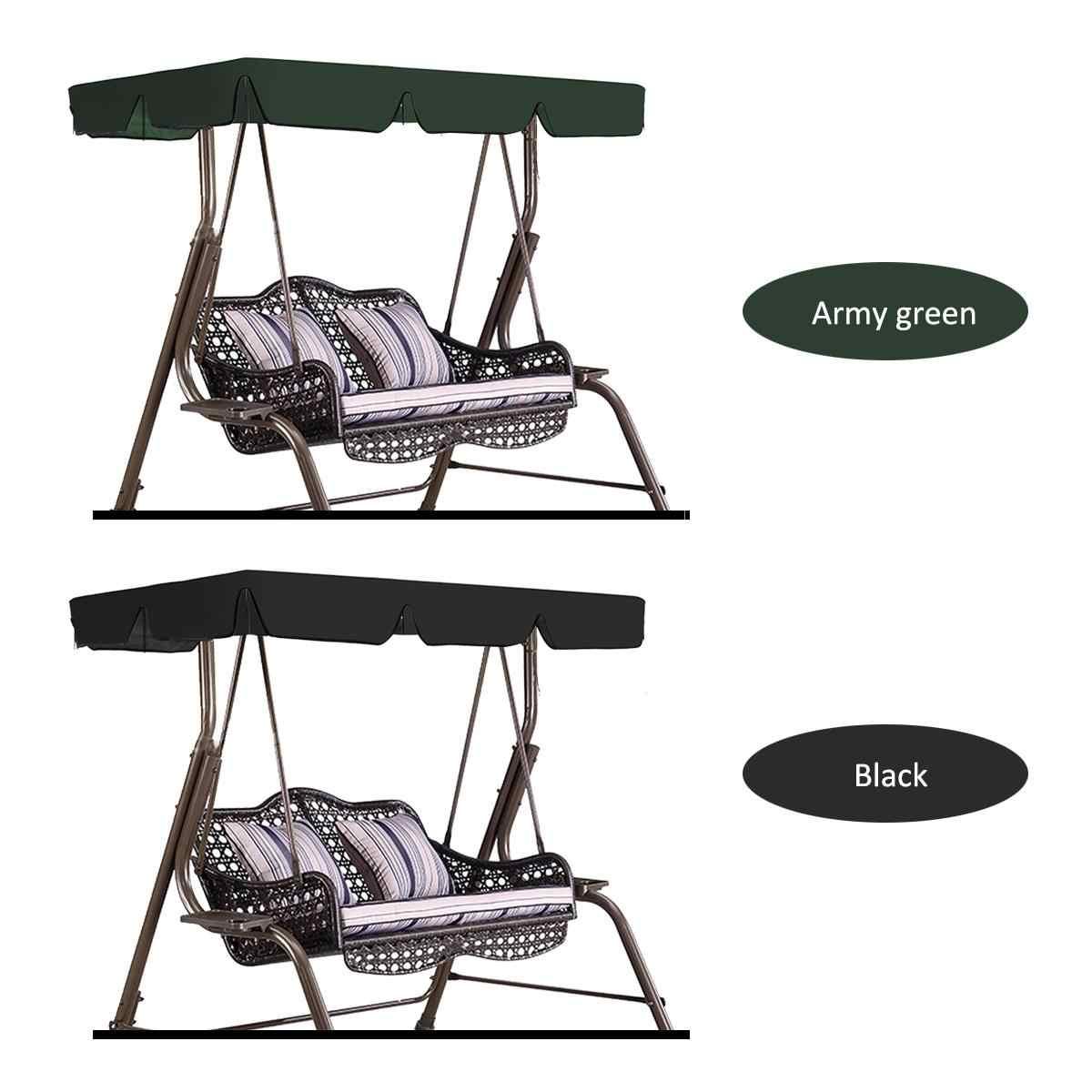 2/3 Lugares Cadeira de Balanço À Prova D' Água Da Tampa Superior do Dossel Ao Ar Livre Substituição Tampa Do Jardim Do Pátio Ao Ar Livre Do Balanço Cadeira Tenda Sombra Vela