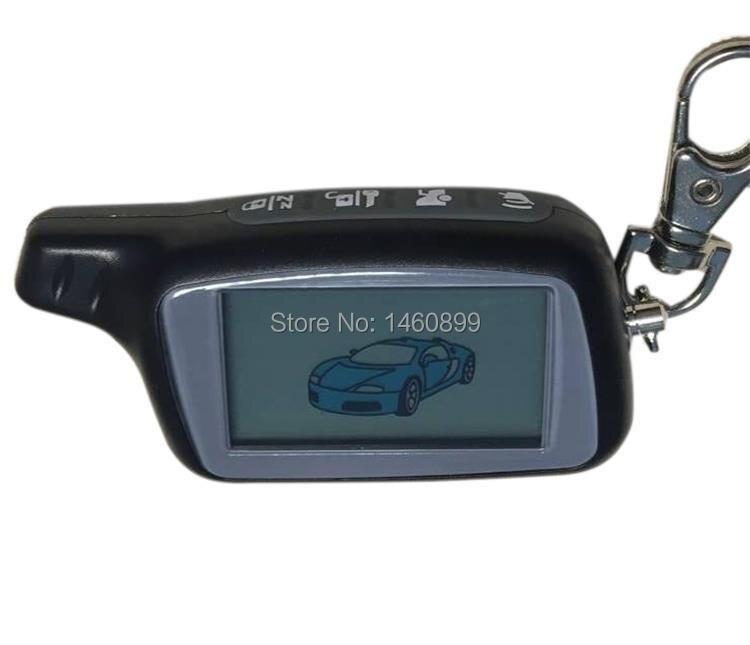 Llave de control remoto LCD X5 de 1,5 V y 434MHz para versión rusa SEGURIDAD DEL VEHÍCULO sistema de alarma bidireccional para coche llavero TOMAHAWK X5
