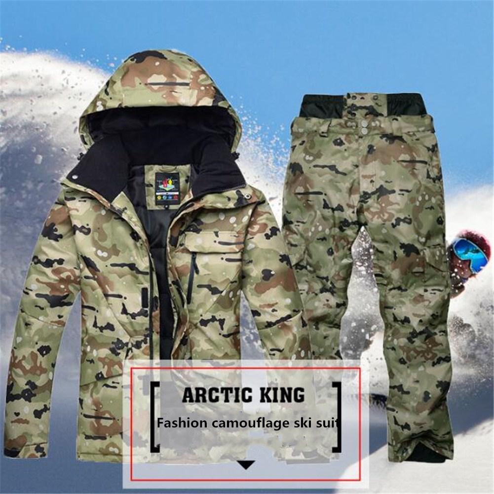 Mounchain 1 costume hiver mâle imperméable veste de Ski thermique + pantalon de Snowboard Ski de plein air Snowboard neige Ski costume 2019 nouveau