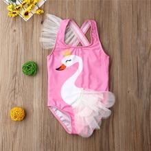 От 1 до 6 лет модная детская одежда для маленьких девочек Милая пачка розовый купальник купальный костюм Пляжная одежда цельные костюмы