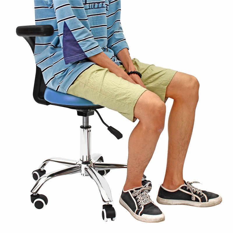 Anti-statik PU Diş Tıbbi dişçi Koltuğu Koltuk Tabure Ayarlanabilir Güzellik Tabure Salon Berber Koltuğu Tekerlekli Sandalye ile arka