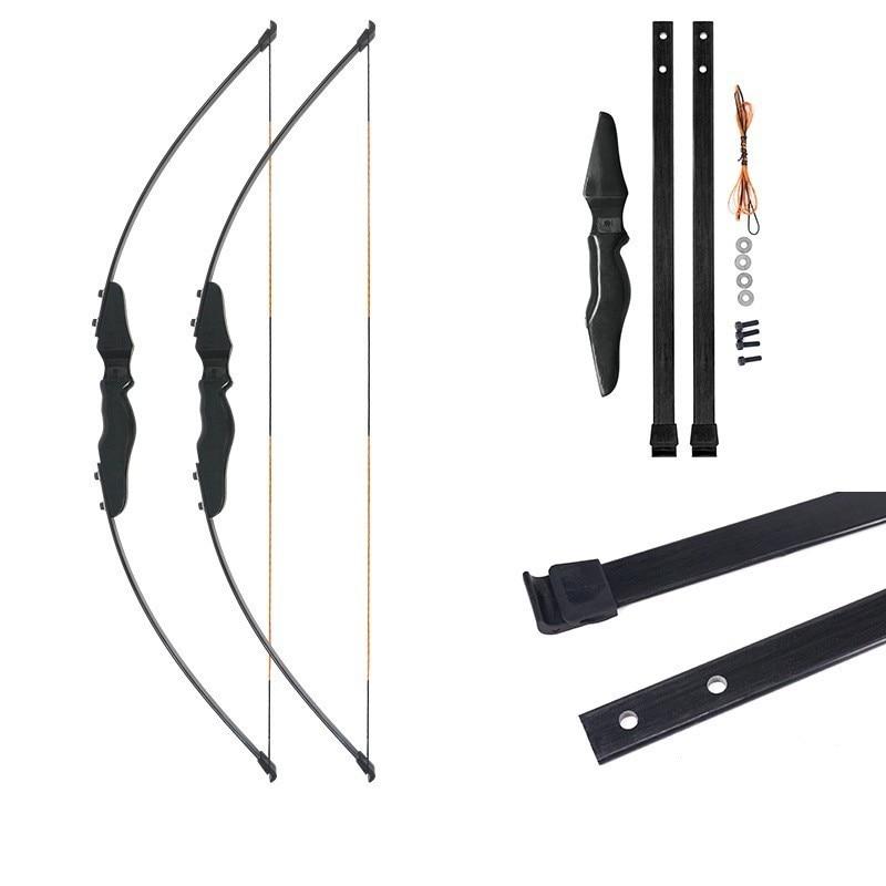 30 LBS arc classique tir à l'arc en Fiber de verre membre partie Style droit tirer arc chasse pêche accessoires plein air Sport livraison gratuite