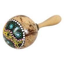 Скорлупа кокосового ореха Погремушка шейкер aslatua Gourd колено kashaka Индонезии шейкер погремушка ударный музыкальный инструмент игрушка