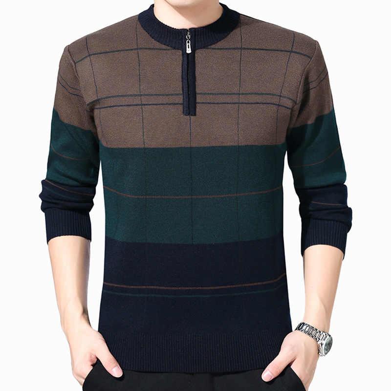 2019 шерстяные свитера для мужчин, Осень-зима, толстые свитера с круглым вырезом, фирменный свитер, мужской вязаный кашемировый теплый кардиган на молнии для мужчин, плюс 4XL