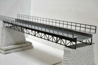 1/87 Train Model Sand Table Scene Elevated Railway Bridge Building Model Plastic DIY Kit Assembled Toys For Children Shipping