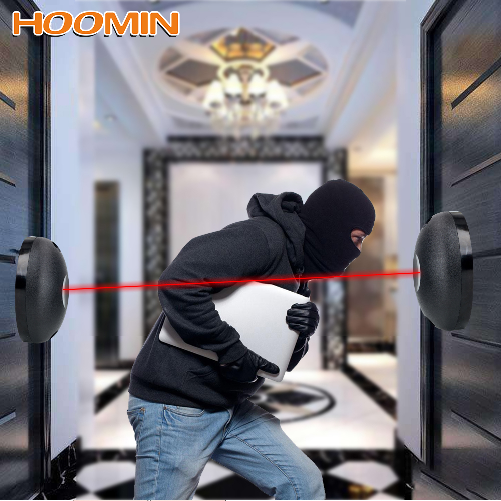Against Hacking System Single Beam Infrared Radiation Sensor Barrier For Gates Doors Windows External Positioning Alarm Detector