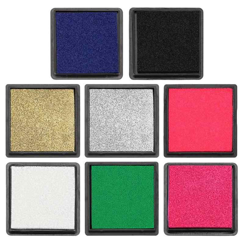 1 pc 4cm Ink Pad Stamp for Scrapbooking Colorful Inkpad Sealing Decoration Fingerprint Stencil Card Making DIY Stamp Crafts