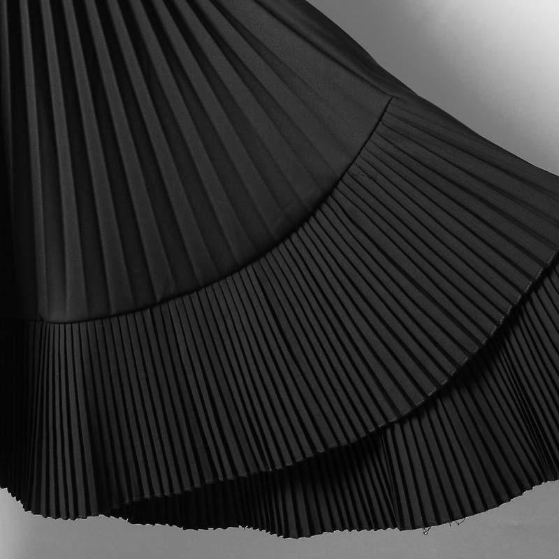 Midi gray Cintura Mujeres Alta Moda Black R137 Mujer Primavera De Casual Para Elástica 2019 Marea Faldas Falda Las Coreana UWwSnz