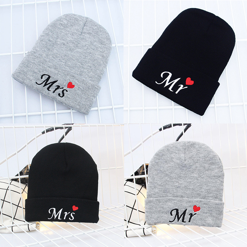 Sale Lovely Cartoon Letters Kids   Skullies     Beanies   Warm Knitted Women Girl Boy Winter Family Hat