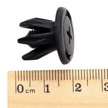 50 шт. 10 мм Черный Автомобильный бампер багажника крыло заклепки клипсы высокого качества авто фиксатор крепления пластиковые заклепки аксессуары