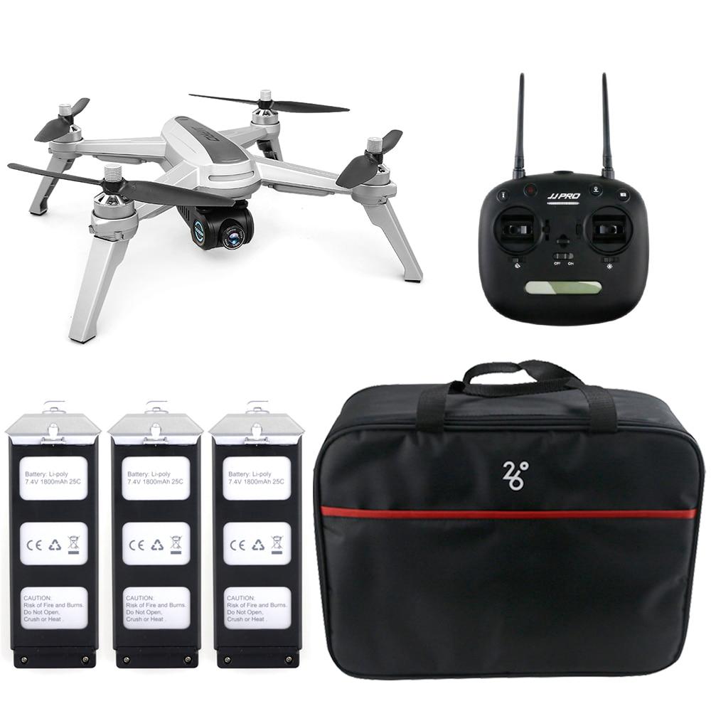 Drone JJRC JJPRO X5 5G WiFi FPV RC positionnement GPS maintien d'altitude 1080 P caméra professionnelle suivez-moi Drone moteur sans brosse