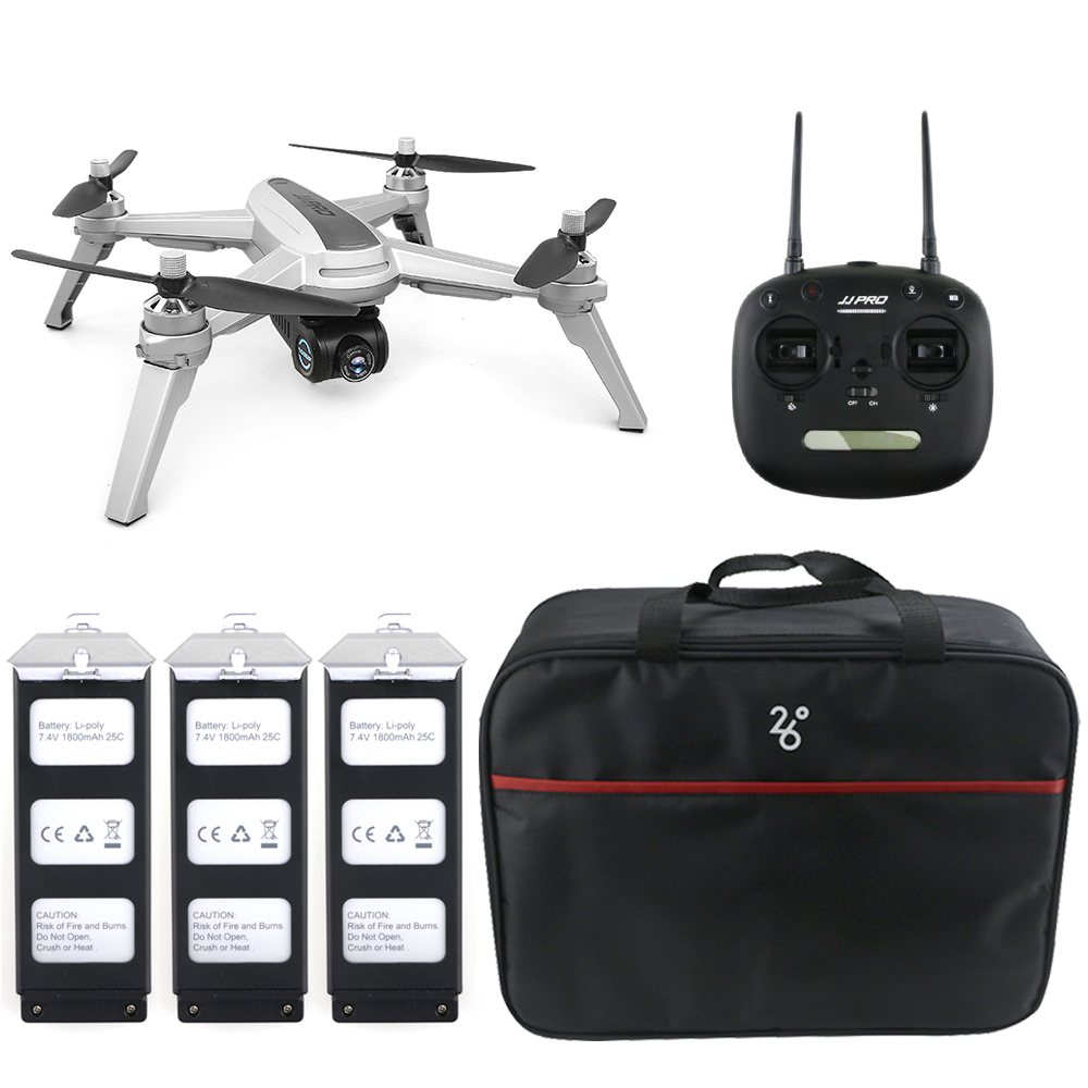 JJRC JJPRO X5 5G WiFi FPV RC Drone GPS positionnement Altitude tenir 1080 P caméra Point d'intéressant suivre Drone moteur sans brosse