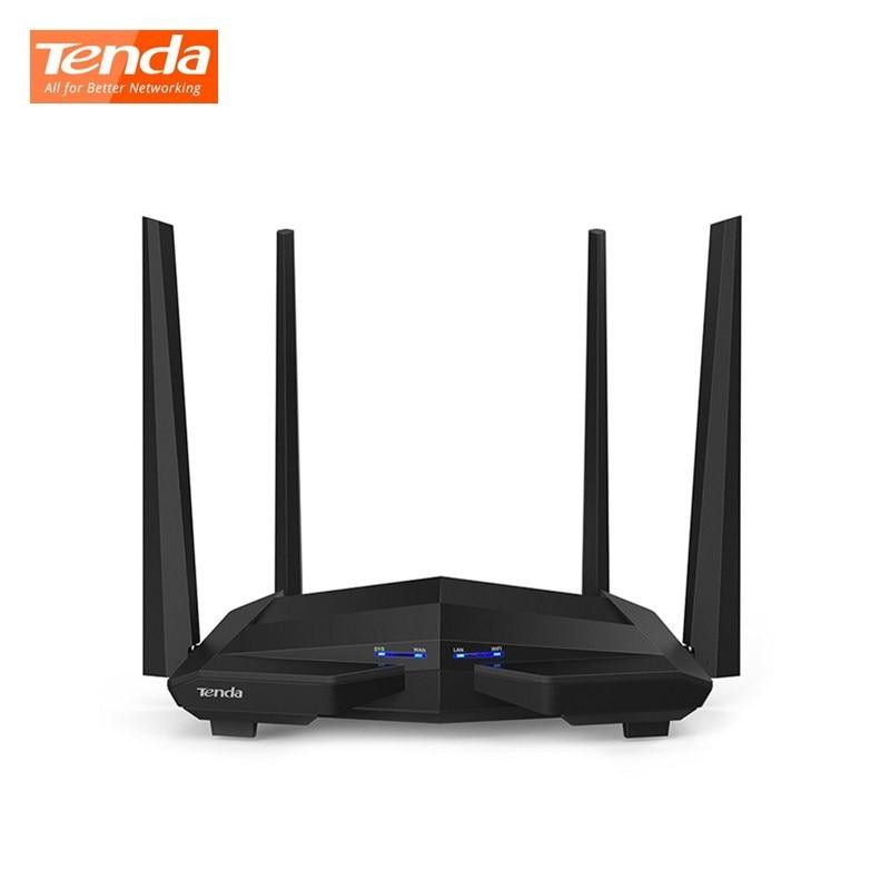 Routeur sans fil Tenda AC10 double bande 2.4G/5G Wifi 1 WAN + 3 Port Gigabit LAN 802.11AC 4 5dBi antennes Smart App routeur à usage domestique