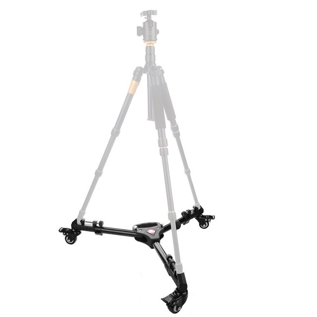 FFYY-KINGJOY pangshi VX-600 photographie trépied robuste avec roues et supports de jambes réglables pour Canon Nikon Sony DSL