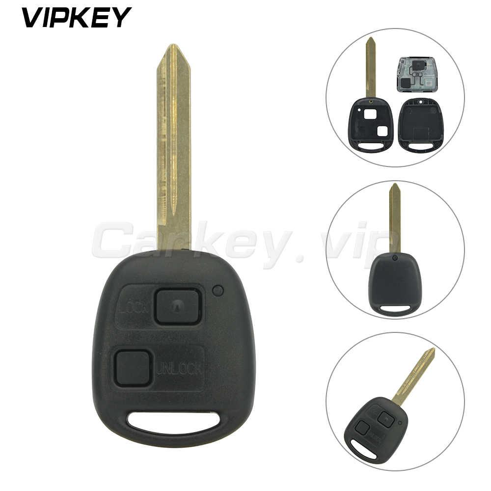 Remotekey Điều Khiển Từ Xa 2 Nút 315 Mhz Remote Key Fob Dành Cho Xe Toyota Rav4 Tràng Hoa Yaris Không/4C/ 4d67 Chip Optioanl Toy47 Lưỡi Dao