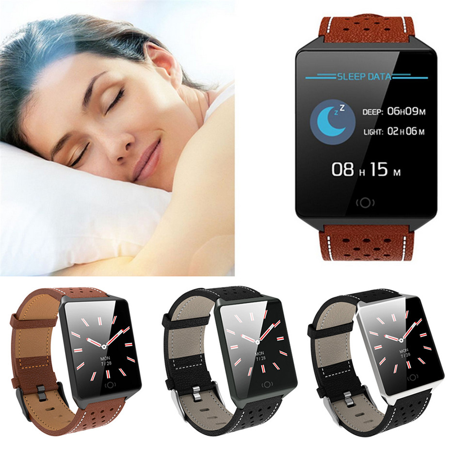 Sleep Monitor Smart Watch Men Hand-up Bright Screen Wearable Devices Remote Camera for Android IOS Electronic Watches Men цена