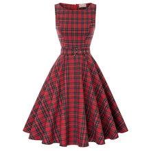 30264c26b8f women dresses Retro Vintage summer ladies clothes Sleeveless Scoop Neck  Belt dress Cotton Party elegant knee Aline Picnic Dress