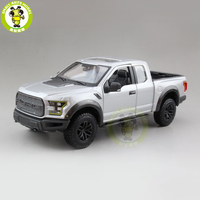 1/24 Ford F150 F 150 Raptor 2017 Trucks Pickup Diecast Metal Car Model Toys for kids Boy Girl Gift Collection Maisto Silver
